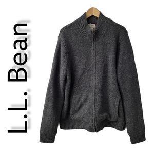 Lambs Wool Sweater Men's Size L L. Bean